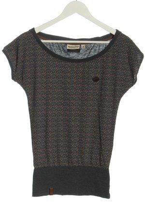 Naketano T-shirt grigio chiaro stampa integrale stile casual