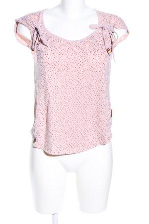 Naketano T-Shirt pink Allover-Druck Casual-Look