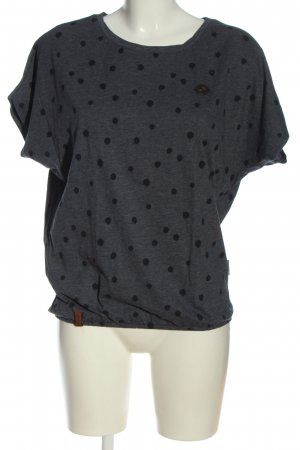 Naketano T-Shirt hellgrau-schwarz meliert Casual-Look