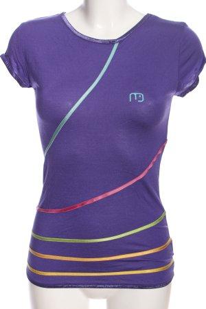 Naketano T-Shirt Streifenmuster Casual-Look
