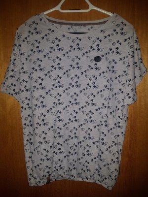 Naketano T-shirt M Vögelchen Muster