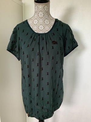 Naketano T-shirt S grün Katzen