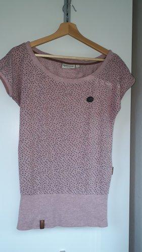 Naketano T-shirt czarny-różowy