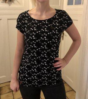 Naketano Top Shirt Oberteil schwarz weiß Leder 36 S Viskose - Versandkostenfrei