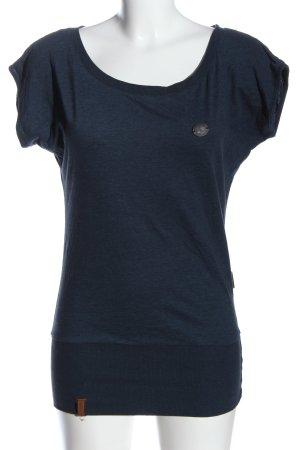 Naketano U-Boot-Shirt blau meliert Casual-Look