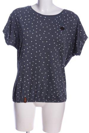 Naketano Boothalsshirt blauw-wit volledige print casual uitstraling