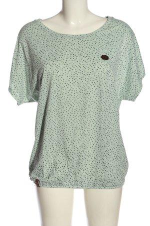Naketano T-shirt verde-blu stampa integrale stile casual