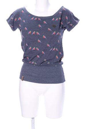 Naketano Boatneck Shirt allover print casual look