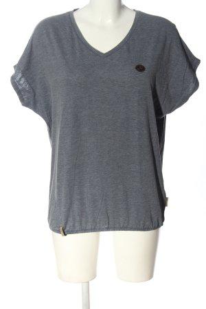 Naketano V-Neck Shirt light grey flecked casual look