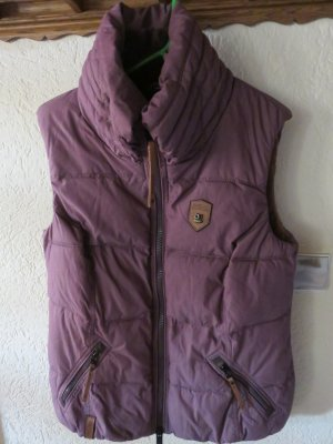 Naketano Gilet matelassé gris lilas-violet coton