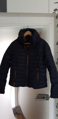 Naketano Kurtka zimowa ciemnoniebieski-brąz Tkanina z mieszanych włókien