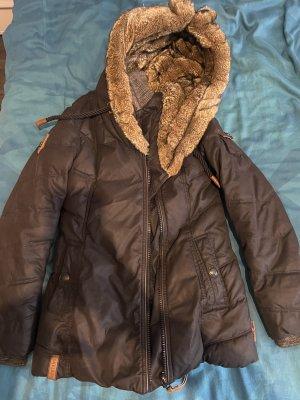 Naketano Kurtka zimowa ciemnoniebieski-brązowy