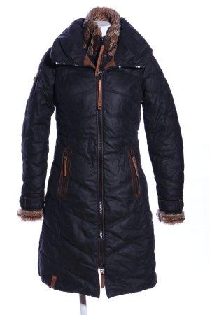 Naketano Wintermantel schwarz Steppmuster Casual-Look