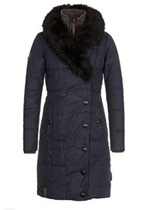 Naketano Płaszcz zimowy ciemnoniebieski-szary niebieski