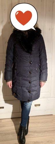 Naketano Abrigo de invierno azul oscuro-gris pizarra