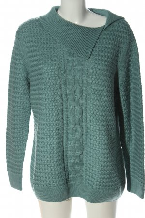 Nala Cable Sweater turquoise casual look