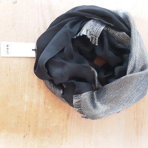 Nali Zijden sjaal zwart-zilver
