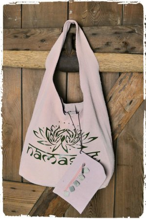 Namaste Lotusblüte Shopper Rose ibiza Leder