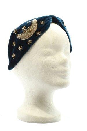Namjosh Diadema azul-color oro look casual