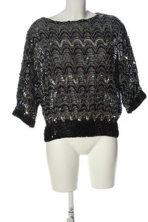 Nana Apart Glanzende blouse zwart wetlook