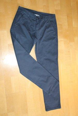 Pantalone chino blu scuro Tessuto misto