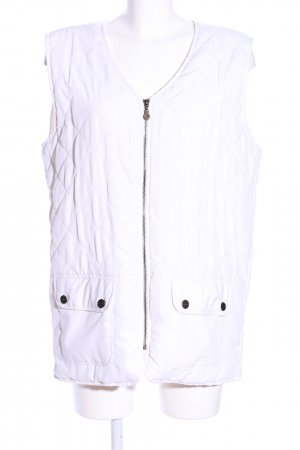 Nanda S. Quilted Gilet white quilting pattern casual look