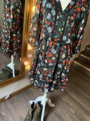 Nanette Lepore Chiffon Dress black-red