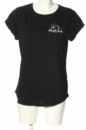 Nanima T-Shirt schwarz-weiß Motivdruck Casual-Look