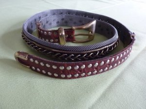 Nanni Studded Belt bronze-colored leather
