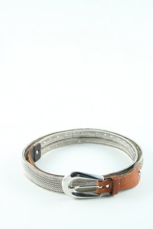 Nanni Chain Belt silver-colored-brown extravagant style