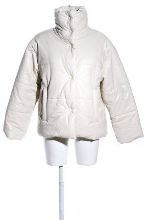 Nanushka Chaqueta de cuero de imitación blanco estampado acolchado look casual