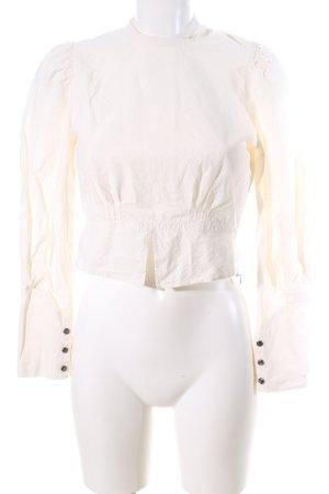 Nanushka Langarm-Bluse creme Casual-Look