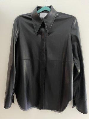Nanushka Leather Shirt black polyester