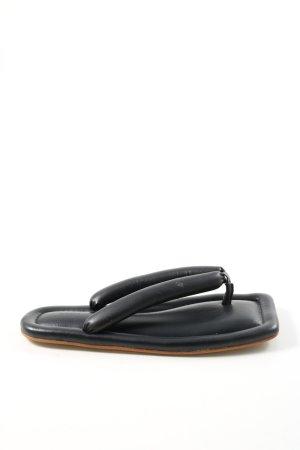 Nanushka Zehentrenner-Sandalen schwarz Casual-Look