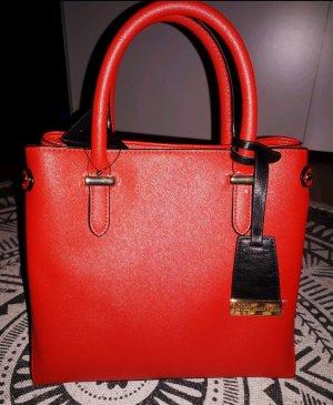 Naomi Campbell Tasche Rot ungetragen mit Etikett