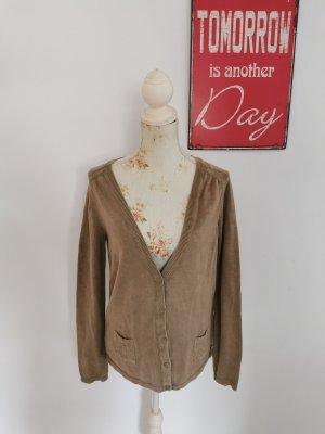 Napapijri Sweat Jacket sand brown cotton
