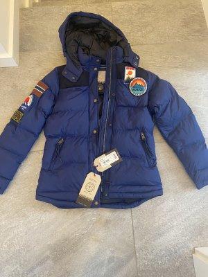 Napapijri Daunenjacke Thermo Jacke Gr. 34/XS NEU Mit Etikett Blau