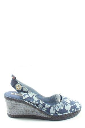 Napapijri Espadrilles-Sandalen blau-türkis Blumenmuster Casual-Look
