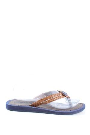 Napapijri Flip flop sandalen blauw-bruin casual uitstraling