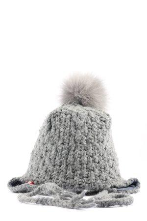 Napapijri Bonnet en crochet gris clair style décontracté