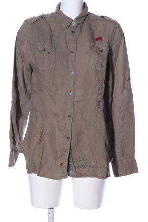 Napapijri Blusa-camisa marrón look casual
