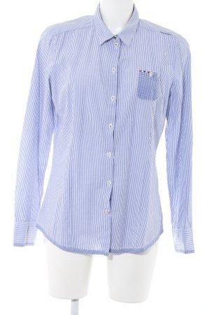 Napapijri Hemd-Bluse weiß-blau Streifenmuster Business-Look