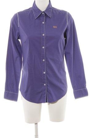 Napapijri Hemd-Bluse blauviolett-himmelblau klassischer Stil