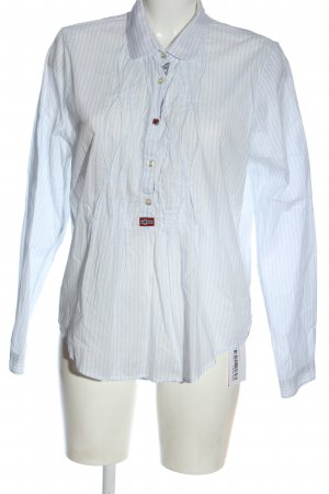 Napapijri Hemd-Bluse weiß-blau Streifenmuster Elegant
