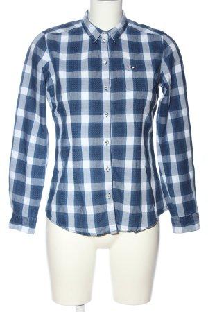 Napapijri Holzfällerhemd blau-weiß Allover-Druck Casual-Look