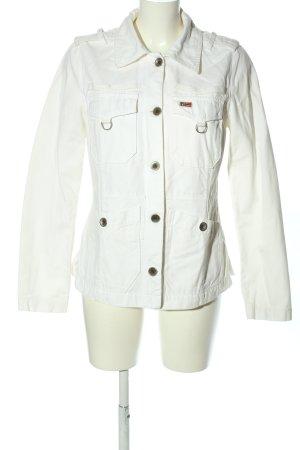 Napapijri Jeansowa kurtka biały W stylu casual
