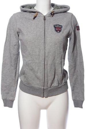 Napapijri Hooded Sweatshirt light grey flecked athletic style