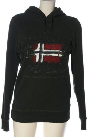 Napapijri Kapuzensweatshirt schwarz Motivdruck Casual-Look