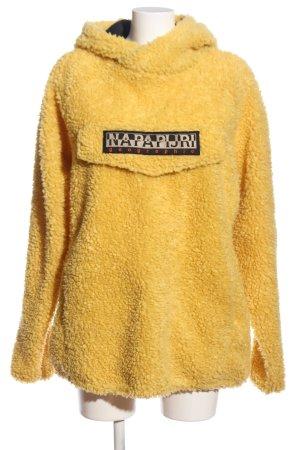 Napapijri Bluza z kapturem bladożółty Wydrukowane logo W stylu casual