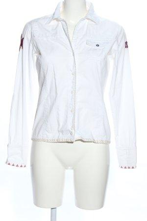 Napapijri Camicia a maniche lunghe bianco-bianco sporco stile professionale